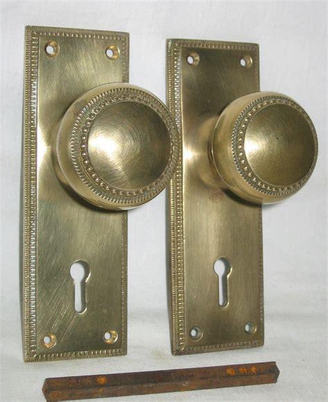 Brass Front Door Hardware Vintage Solid Brass Front Door Knobs With Key Aud 9 99 Picclick Au
