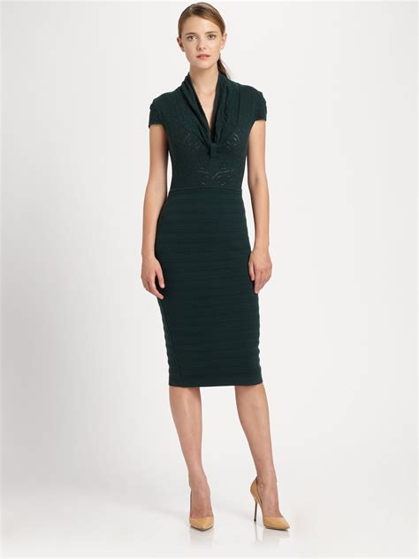 Chaterine Dress lyst catherine malandrino merino wool dress in green