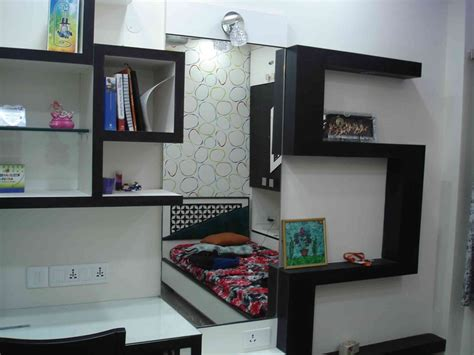 Bedroom Dressing Units Apartment By Arpita Doshi Interior Designer In Kolkata