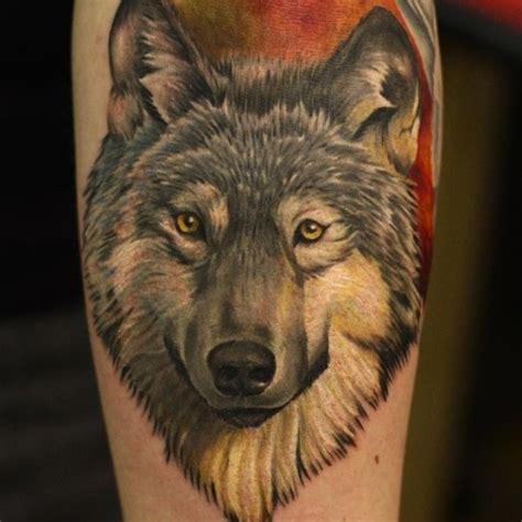 nice wolf tattoo  wolf forearm tattoo  tattoochiefcom