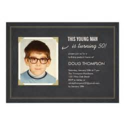 funny birthday invitations with an old photo 5 quot x 7