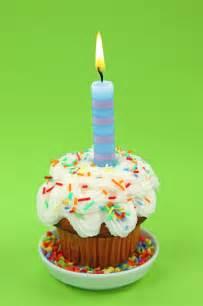 blue birthday candle stock image image  year cupcake