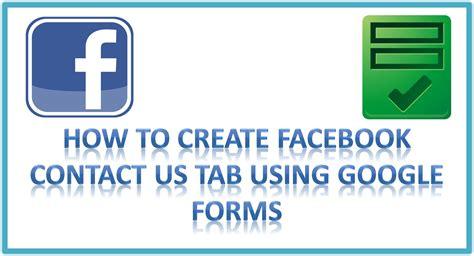seo news how to create contact us tab using