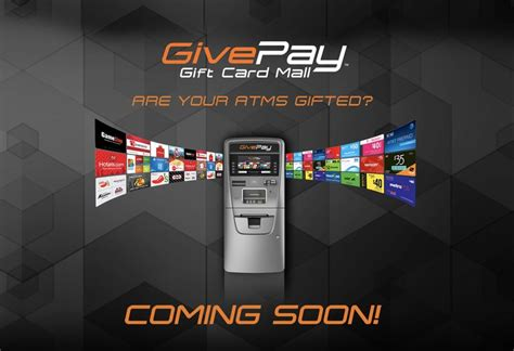Cash For Gift Cards Kiosk Las Vegas - givepay gift card mall coming soon to an atm near you