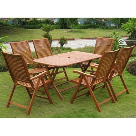wooden patio dining set wooden patio dining set renaissance 5 outdoor wood patio