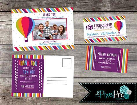 Usborne Business Card Template by Usborne Business Card And Usborne Thank You Postcard Bundle