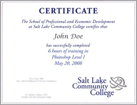 continuing education certificate template best free