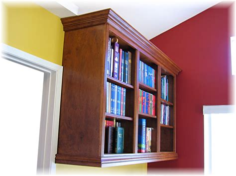 wall mounted bookcase gathering wood