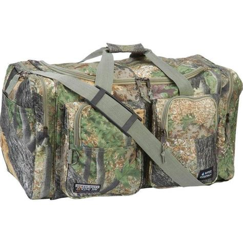 military tote bag pattern green camo mossy oak tree military army luggage travel