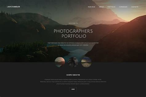 photographer templates 26 photography html5 website templates free themes