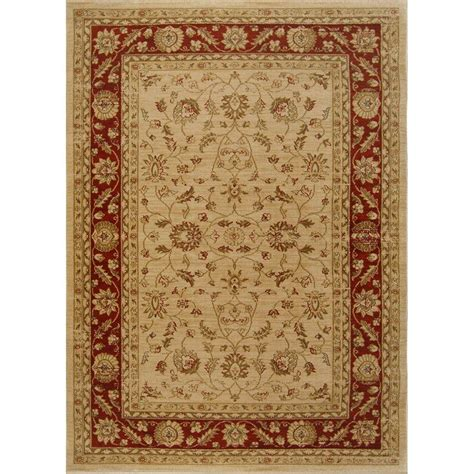 Home Dynamix Antiqua Cream Red 7 Ft 8 In X 10 Ft 2 In Rugs Home Depot