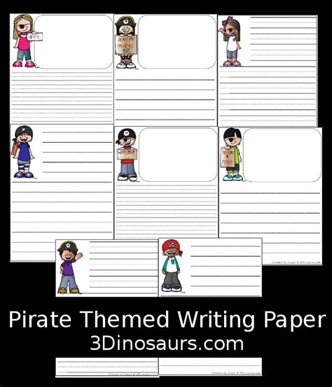 pirate themed writing paper 38 best images about preschool on