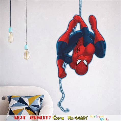 craft with wallpaper sles hot sale spiderman wall sticker marvel superhero wall