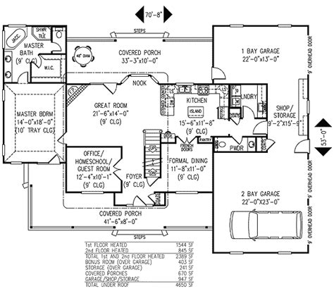 4 bedroom farmhouse plans 3 or 4 bedroom country farmhouse plan 6543rf 1st floor