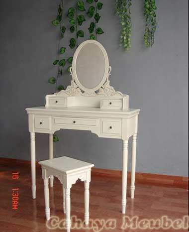 Meja Rias Warna Putih meja rias klasik warna putih duco meja rias kayu mahogany