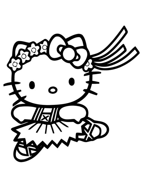 coloring page hello kitty ballerina cute hello kitty coloring pages