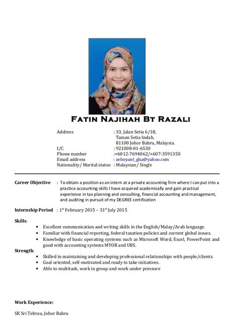 Resume Sle Malaysia 2017 cover letter resume malaysia 28 images sle of cover