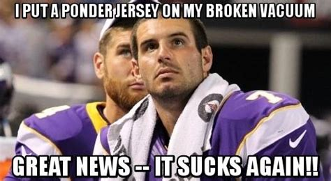 Ponder Meme - tnf border battle minnesota vikings vs green bay