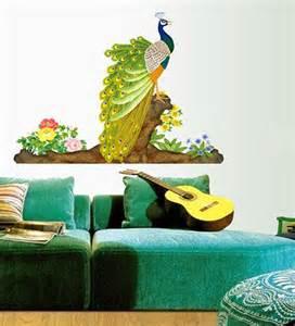 Colorful Wall Stickers wall stickers colorful decorative peacock by walltola