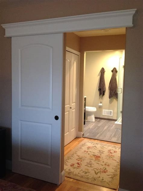Sliding Barn Door Bathroom Privacy Sliding Barn Door Bathroom Privacy Sliding Barn Door Offering Privacy For Pass Through Master