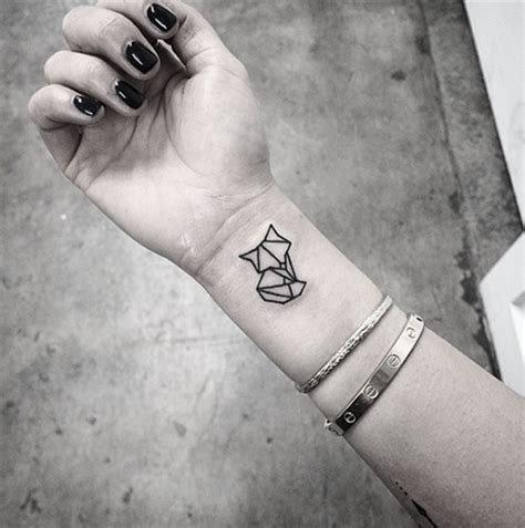 small fox tattoo 88 incredibly meaningful geometric designs