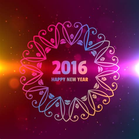 new year ornament vector free 2016 happy new year background with ornament vector free
