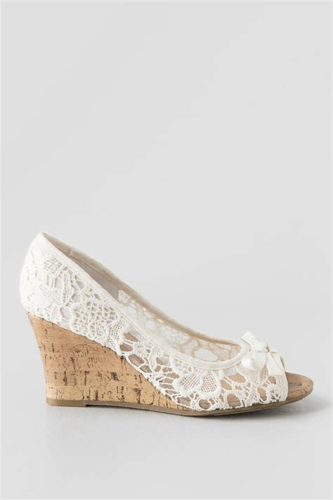report shoes allice crochet wedge s