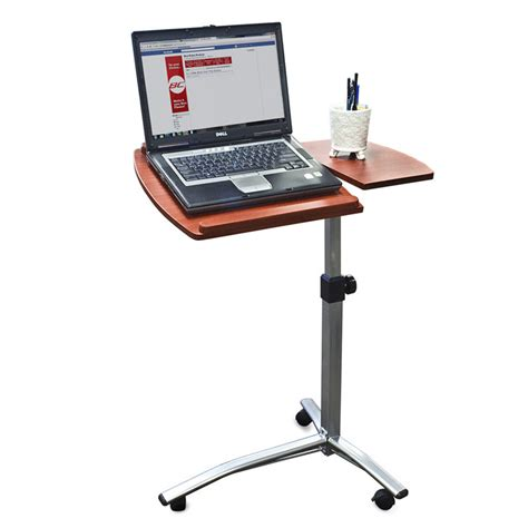 china angle height adjustable rolling laptop desk cart