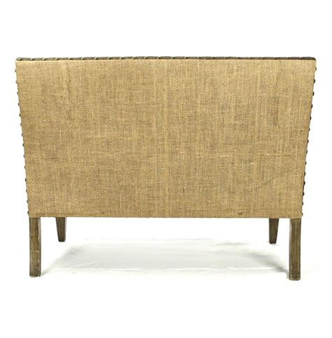 banquette settee french country cottage brown suede banquette dining settee