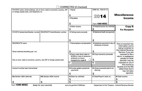 free form 1099 misc template 2014 form 1099 misc template templates resume exles