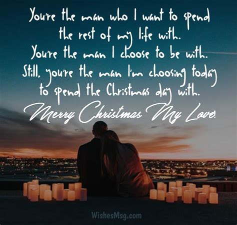 romantic christmas wishes  loved  wishesmsg