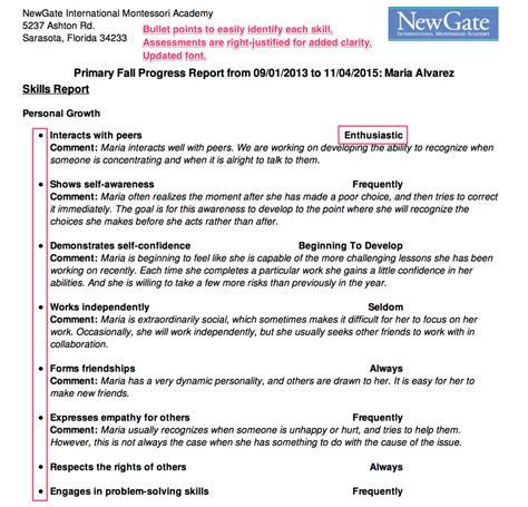 trillium report card templates writing childrens progress report statprojects web fc2