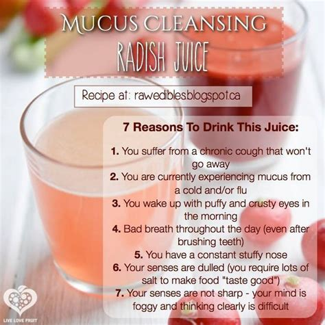Detox Drink For Sinus by What Happens To Your Sinuses When You Drink Radish