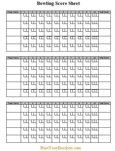 bowls score cards template bowling score sheet all things classroom