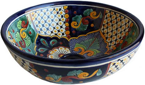 talavera bathroom sinks janitzio round ceramic talavera vessel sink