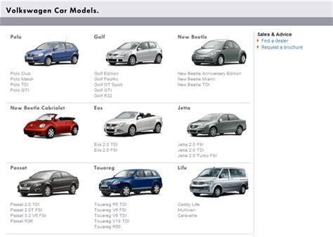volkswagen vehicles list car types and models list pictures to pin on pinterest