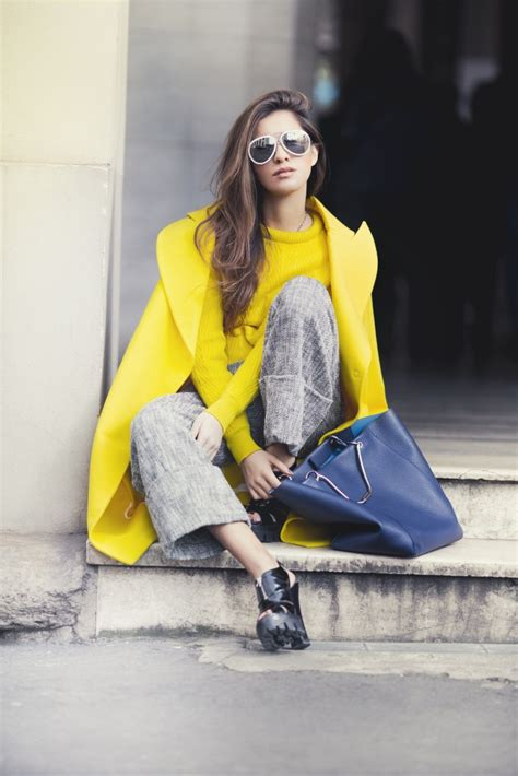 blogger yellow street style in yellow apparel portraits of elegance