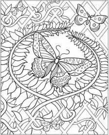 intricate coloring pages for adults inkspired musings butterfly s flight