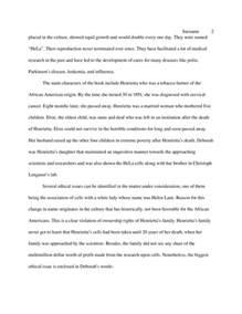 The Immortal Of Henrietta Lacks Essay book report the immortal of henrietta lacks literature essay studentshare