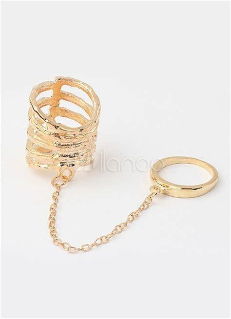 cadenas a la moda para mujer cadena de oro rhinestone metal anillos de moda para mujer