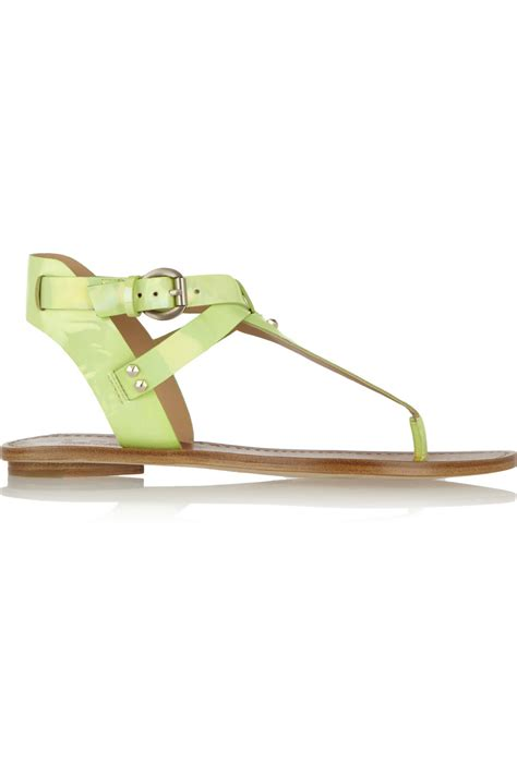 Siegerson Morrison 7069 Patent Peep Toe Wedges At Zappos Couture by Lyst By Sigerson Morrison Randy Patentleather