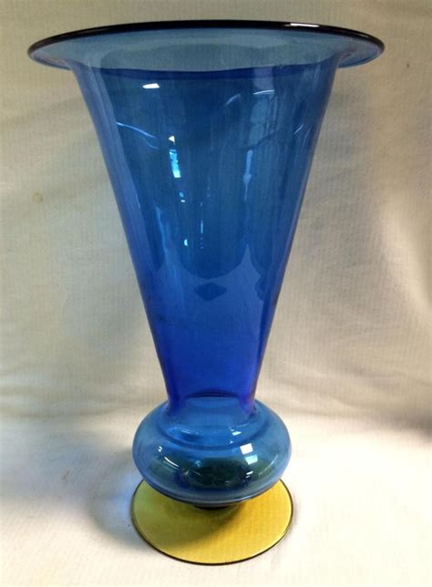 Handmade Glass Vase - blenko handmade glass vase