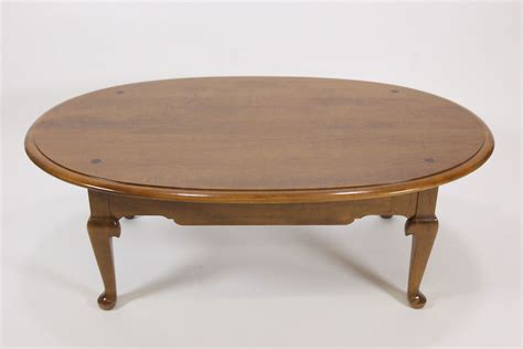 Ethan Allen Coffee Tables Ethan Allen Oval Coffee Table 10 8031 Maple Birch 1981 Traditional Furniture Ebay