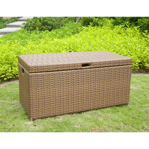 outdoor resin wicker storage outdoor honey resin wicker storage deck box