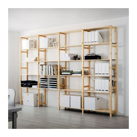 Where To Buy Rustic Home Decor by Ivar 4 Sections Shelves Ikea