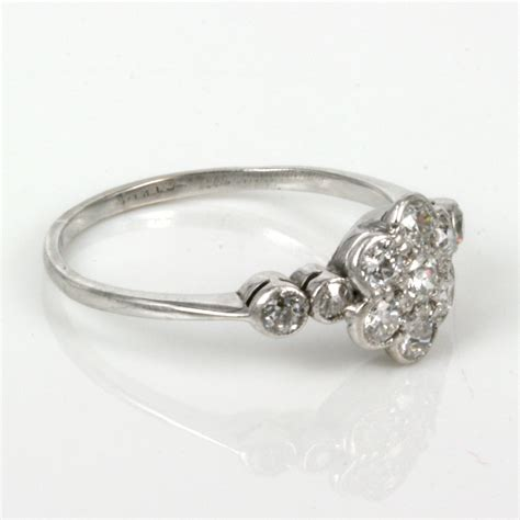 ring deco buy deco cluster ring with 11 diamonds sold