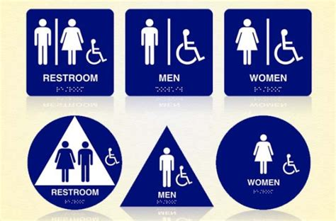 Ada Bathroom Sign by Los Angeles Signs Restroom Signs New Ada Laws And