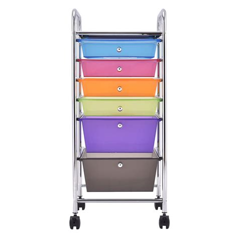 plastic storage cart 6 drawers us 6 drawer rolling storage cart tools scrapbook paper