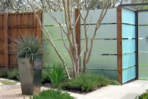 Privacy with panache a contemporary fence with glass slats tres