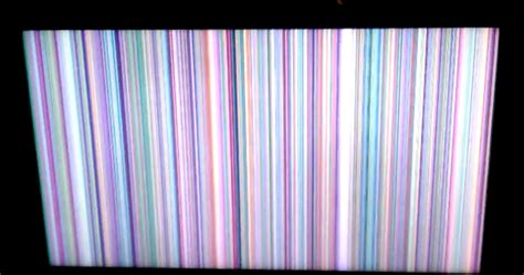 samsung lnt4061f screen has multicolored lines running it pressing the menu button or